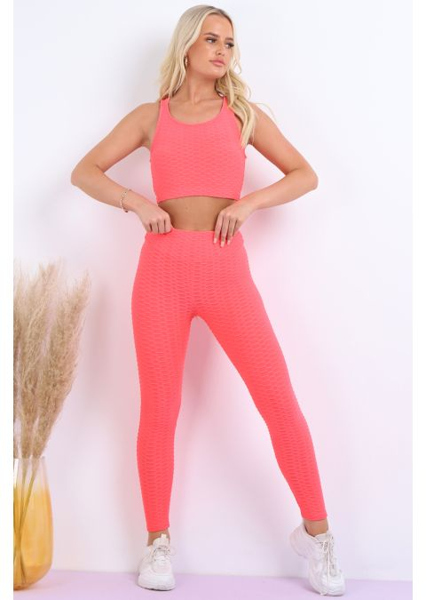 CORAL ACTIVE TEXTURED GYM SUIT